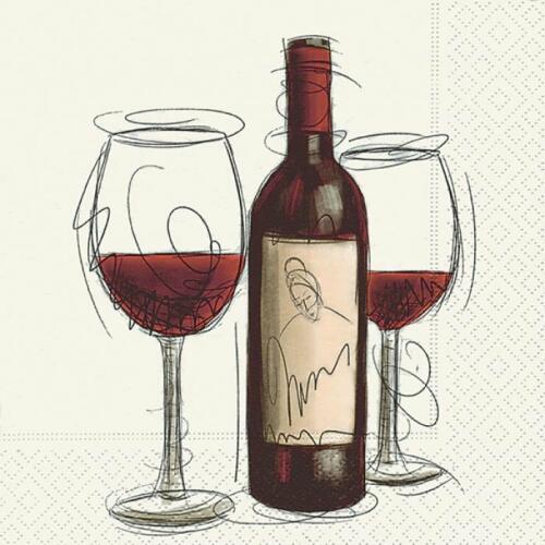 Luncheon Napkins (20) - Vino Rosso