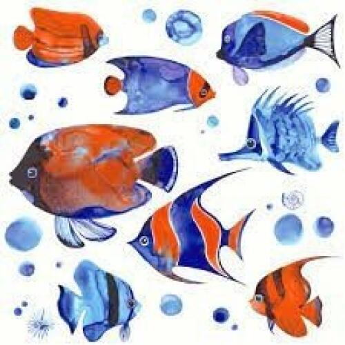 Luncheon Napkins (20) - Tropical Fish