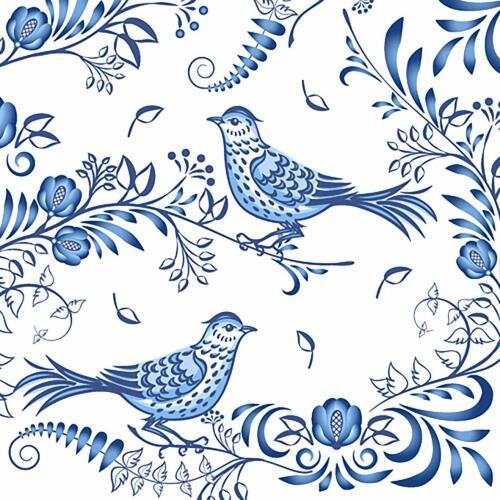 Luncheon Napkins (20) - Porcelain Bird