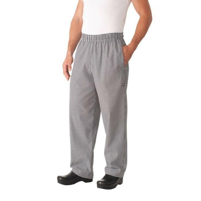Small Check Basic Baggy Pants