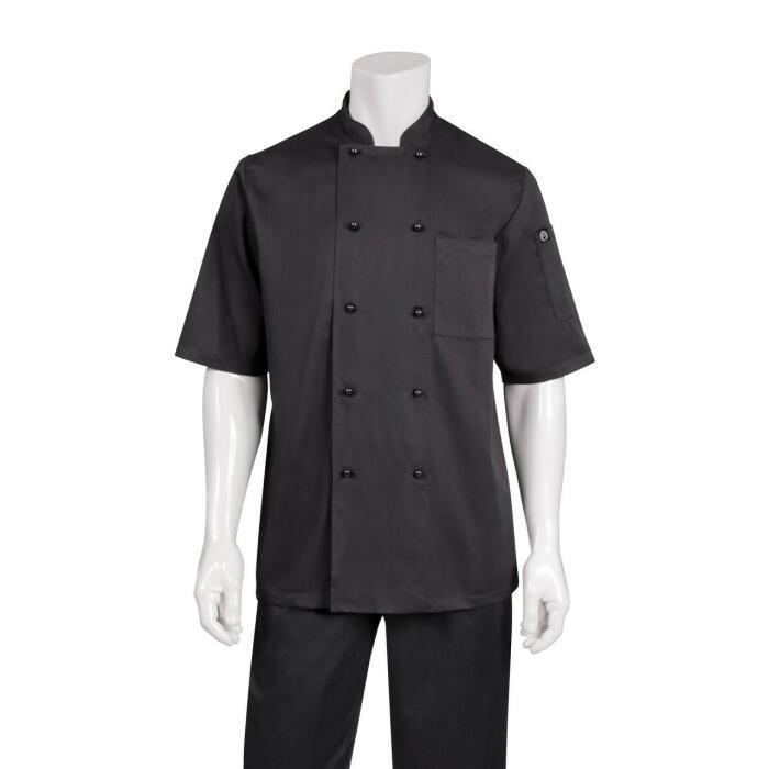 Canberra Black  S/S Basic Chefs Jacket