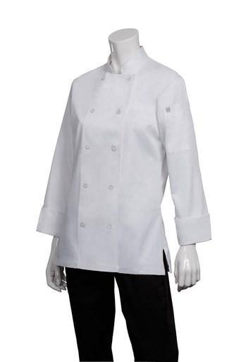 Marbella Women's White Excutive Chefs Jacket