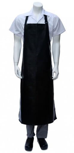 Long PVC Bib Apron - Black