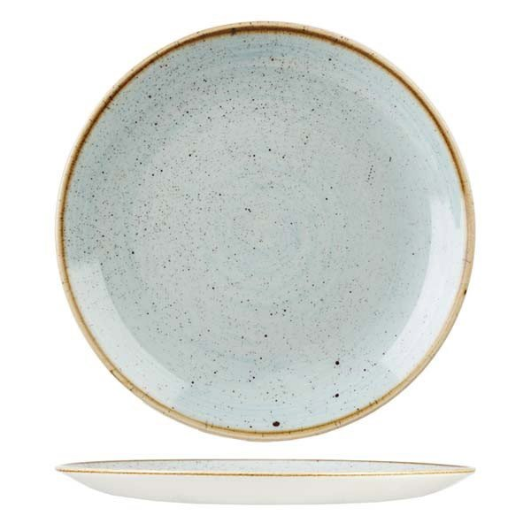 Stonecast Round Plate-Coupe 288mm Duck Egg