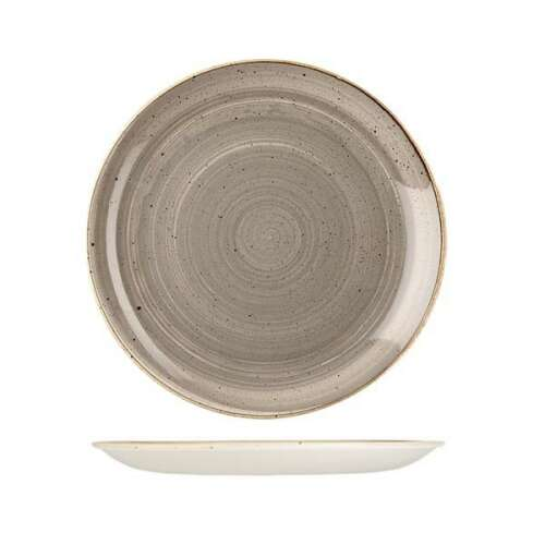 Stonecast Round Plate-Coupe 260mm Peppercorn Grey