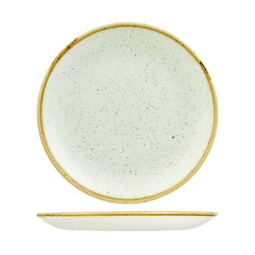Stonecast Round Plate-Coupe 260mm White