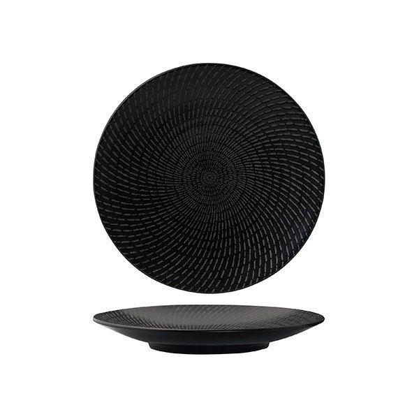 Luzerne Zen Black Swirl Rd Plate-Coupe 205mm
