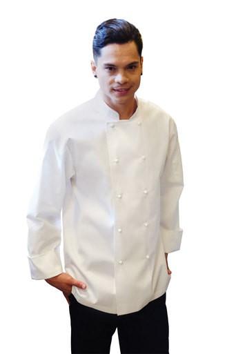 Murray White L/S Basic Chefs Jacket