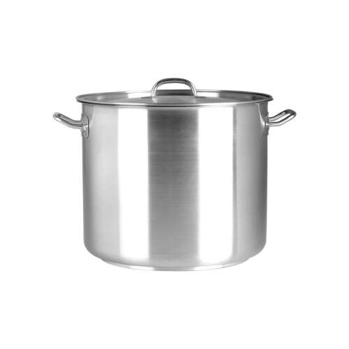 Stock Pot S/S 36.5L with Lid Chef Inox