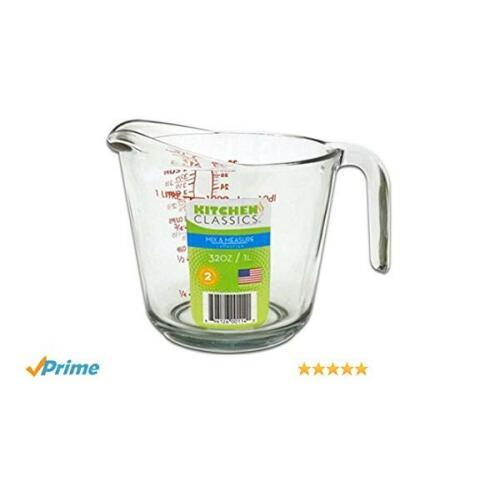 Glass Measure Jug 4 cup/1 litre