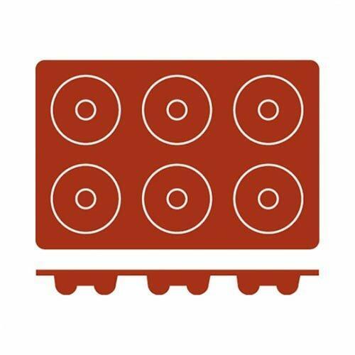 Silicone Mould Savarin (6) 72x23 Frenti