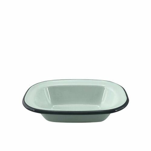 Enamel Oblong Pie Dish Duck Egg Blue 16x12