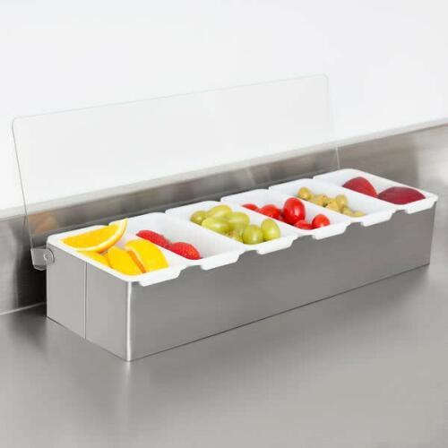 Condiment Dispenser S/S 6-Comp