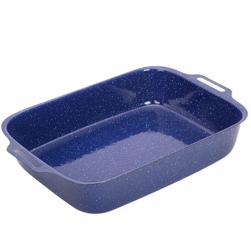 Roast Pan 380x240x65mm Blue Enamel