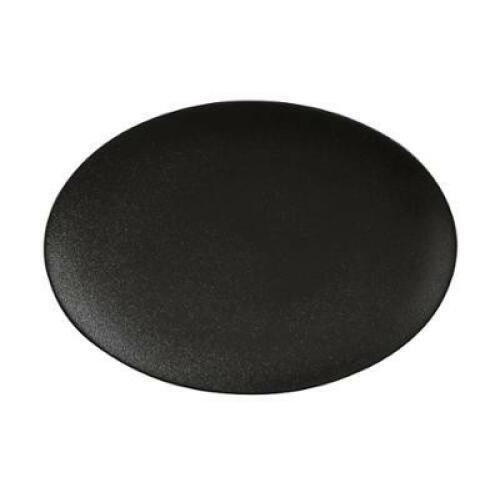 Oval Plate 25x16cm Black - Caviar