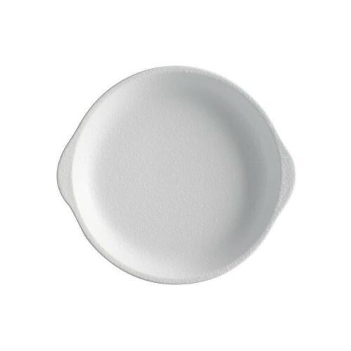 Plate W/Handle 15.5x17cm White - Caviar