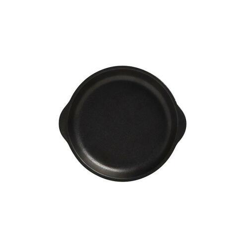 Plate W/Handle 20x22.5cm Black - Caviar