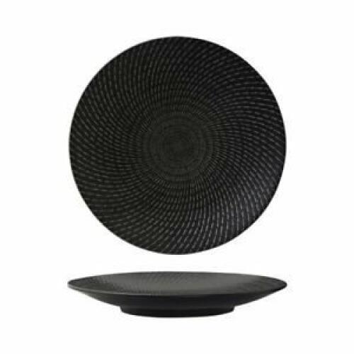 Zen Black Swirl Rd Plate-Coupe 310mm - Luzerne