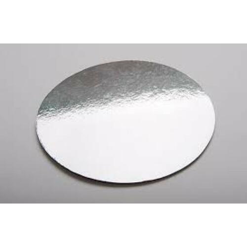 Cake Board Round Silver 23cm
