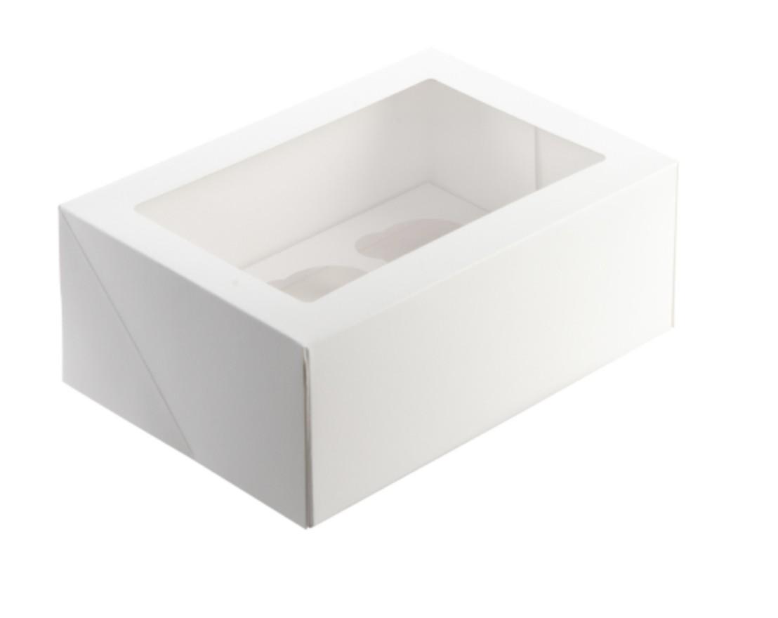 "Cupcake Box 4"" High (6 Cupcakes)"
