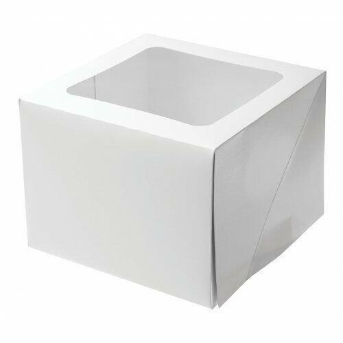 """Cake Box 6"""" High 25x25x15cm"""
