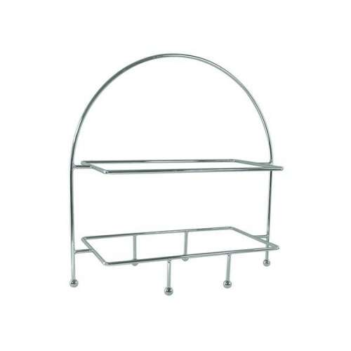 Plate Stand Rectangle 2 Tier- Chrome Plated