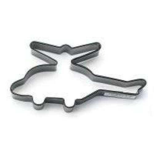 Helicopter Cookie Cutter Black