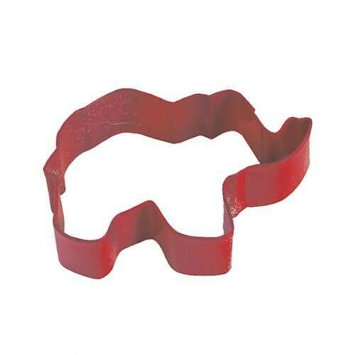 Elephant 9cm Cookie Cutter Red