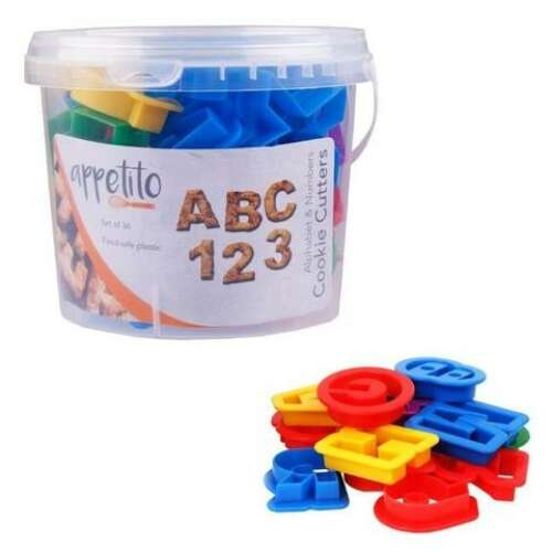 Cookie Cutter Alphabet & Numbers (36)