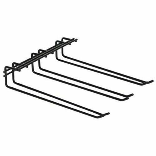 Glass Hanger Rack Triple Black