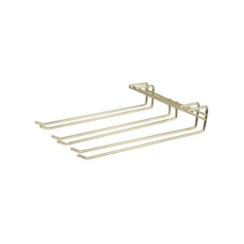 Glass Hanger Rack Triple Brass