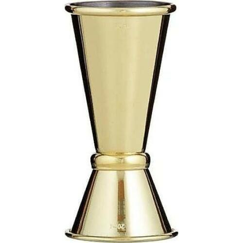 Jigger Belmont Gold Plated 20/40ml - Davis & Waddell