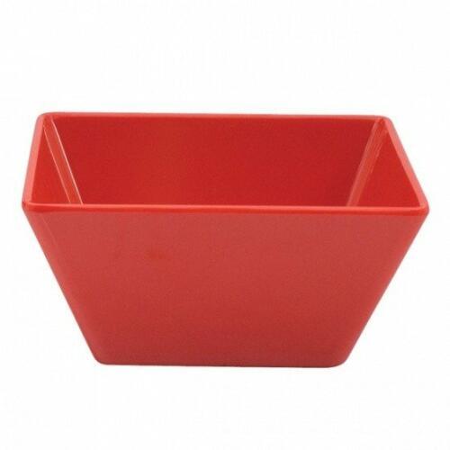 Square Bowl 18x18x8.5cm Red Melamine