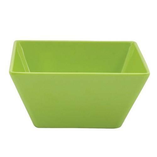 Square Bowl 24x24x10cm Lime Melamine