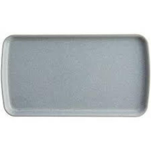 Denby Elements Rect Plate 26x14.5cm Light Grey